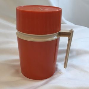 Vintage 1970's Orange Thermos ~ 10 ounce